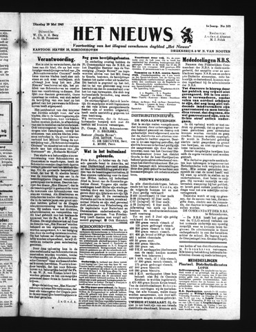 Schoonhovensche Courant 1945-05-29