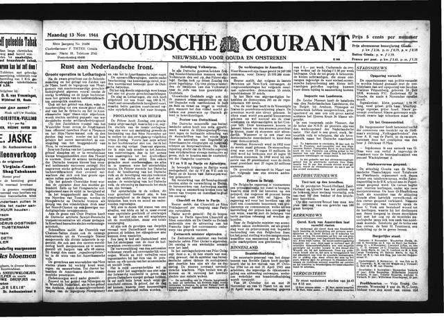 Goudsche Courant 1944-11-13