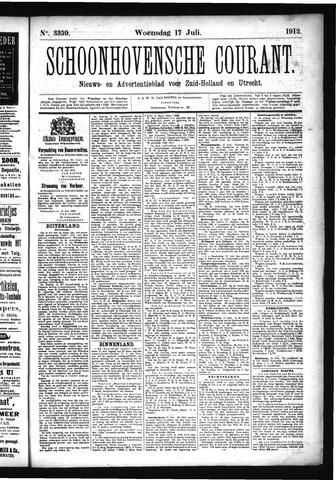 Schoonhovensche Courant 1912-07-17