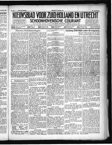 Schoonhovensche Courant 1938-03-16
