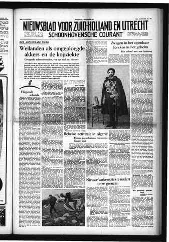 Schoonhovensche Courant 1954-11-03