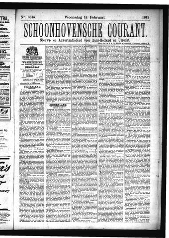 Schoonhovensche Courant 1912-02-14