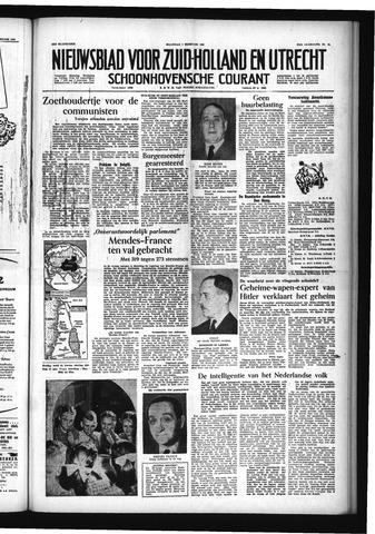 Schoonhovensche Courant 1955-02-07