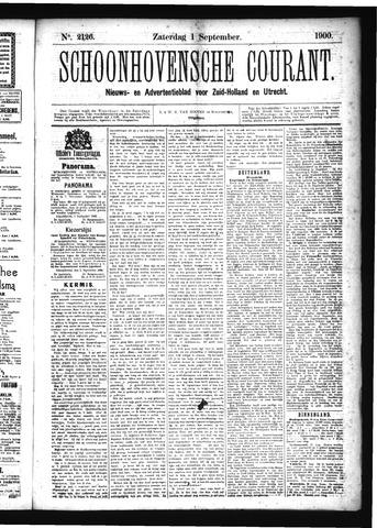 Schoonhovensche Courant 1900-09-01