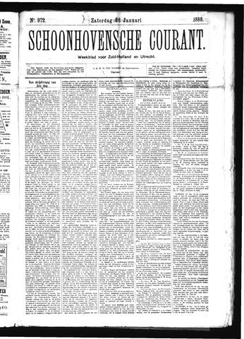 Schoonhovensche Courant 1888-01-28