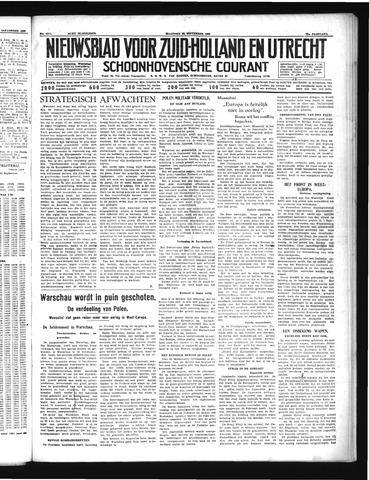 Schoonhovensche Courant 1939-09-25