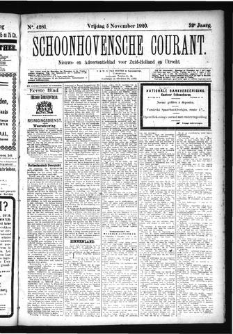 Schoonhovensche Courant 1920-11-05