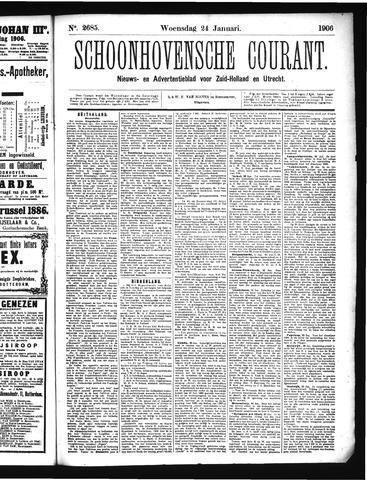 Schoonhovensche Courant 1906-01-24