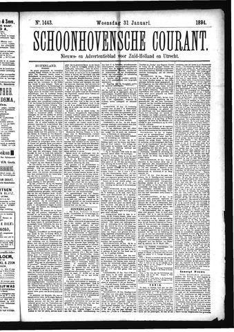 Schoonhovensche Courant 1894-01-31