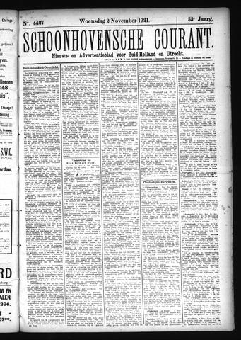 Schoonhovensche Courant 1921-11-02