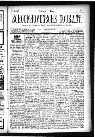 Schoonhovensche Courant 1915-06-01