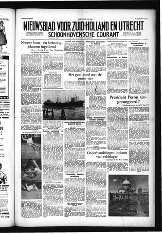 Schoonhovensche Courant 1955-06-22