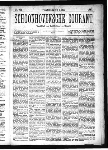 Schoonhovensche Courant 1887-04-23