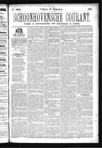 Schoonhovensche Courant 1917-08-31