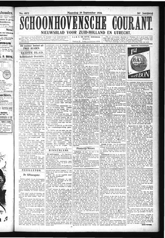 Schoonhovensche Courant 1924-09-29
