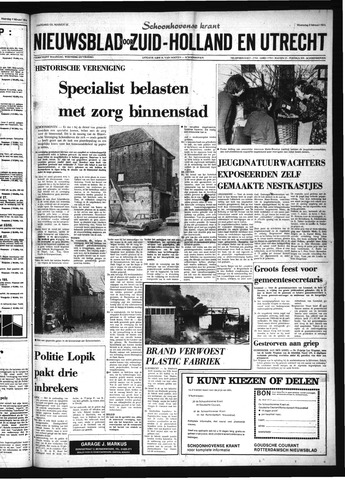 Schoonhovensche Courant 1974-02-06