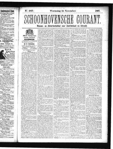 Schoonhovensche Courant 1897-11-24