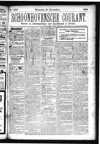 Schoonhovensche Courant 1919-12-22