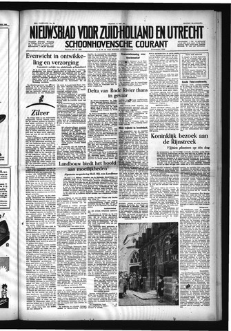 Schoonhovensche Courant 1954-05-21