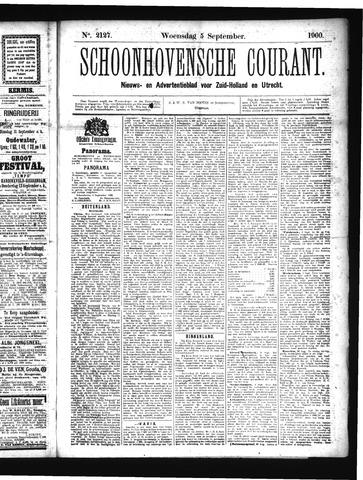 Schoonhovensche Courant 1900-09-05