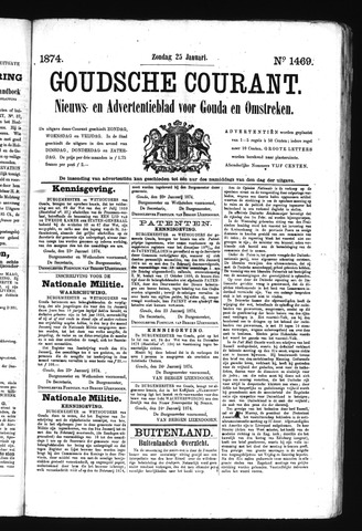 Goudsche Courant 1874-01-25