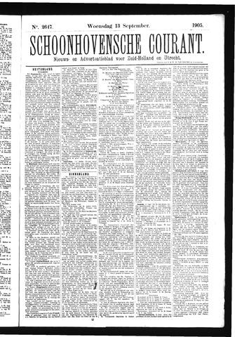 Schoonhovensche Courant 1905-09-13