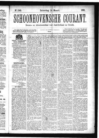 Schoonhovensche Courant 1891-03-14