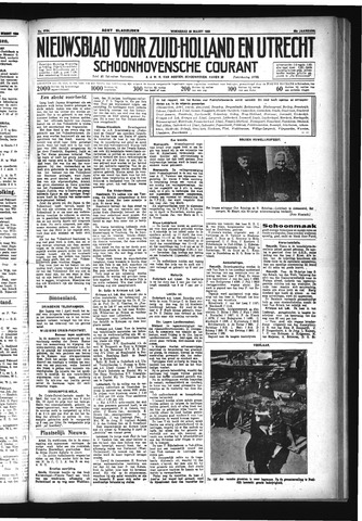 Schoonhovensche Courant 1933-03-29