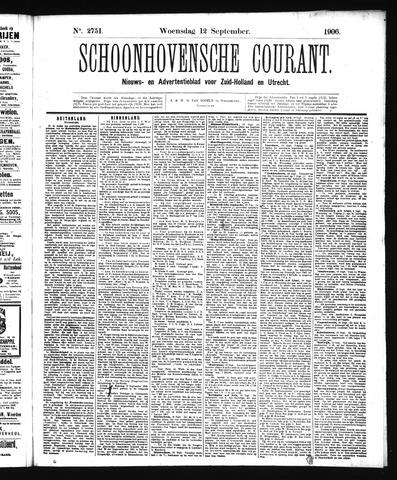 Schoonhovensche Courant 1906-09-12