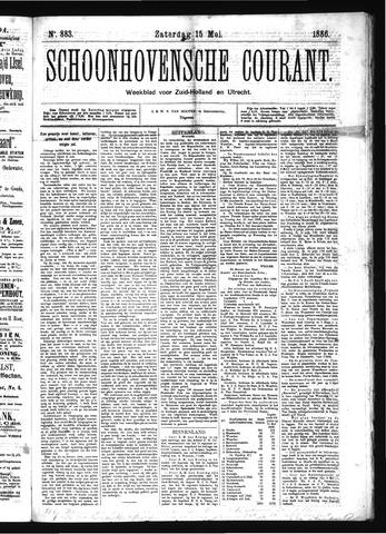 Schoonhovensche Courant 1886-05-15