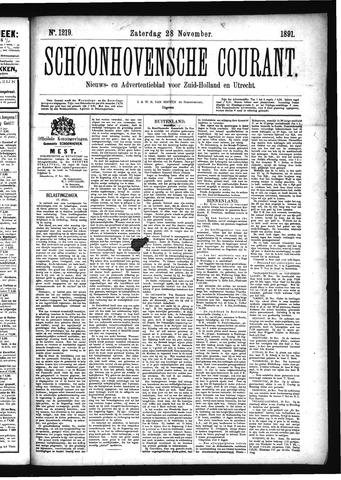 Schoonhovensche Courant 1891-11-28