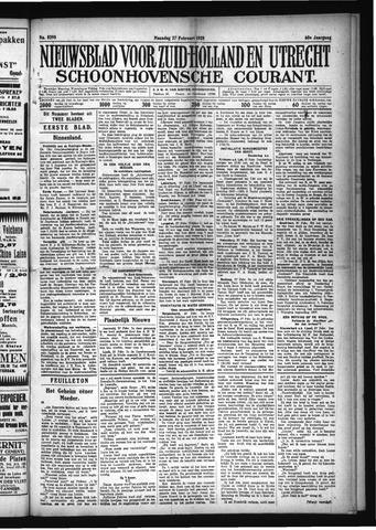 Schoonhovensche Courant 1928-02-27
