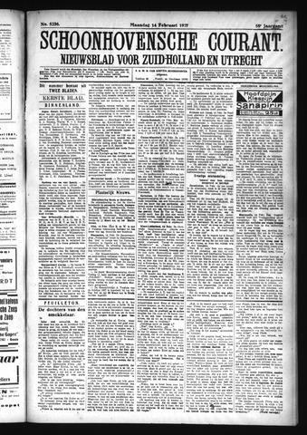 Schoonhovensche Courant 1927-02-14