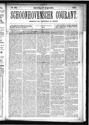 Schoonhovensche Courant 1885-08-15