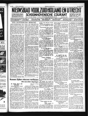 Schoonhovensche Courant 1940-01-19