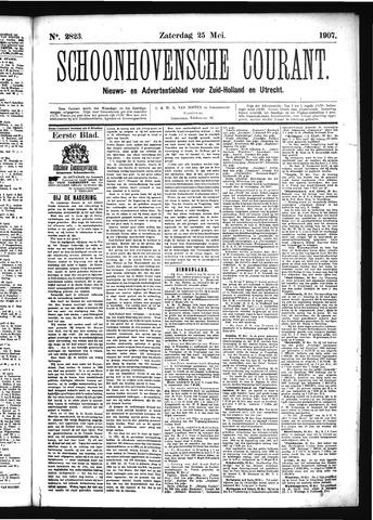 Schoonhovensche Courant 1907-05-25