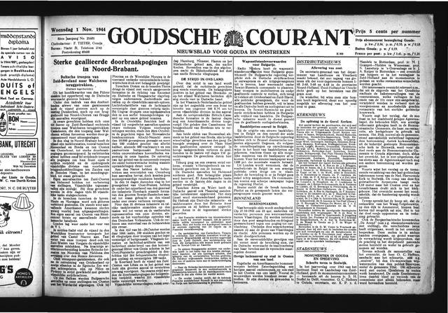 Goudsche Courant 1944-11-01