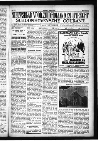 Schoonhovensche Courant 1928-10-19