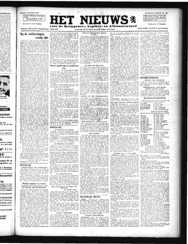 Schoonhovensche Courant 1946-08-09