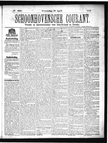 Schoonhovensche Courant 1912-04-10