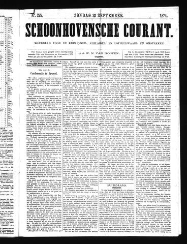 Schoonhovensche Courant 1874-09-20