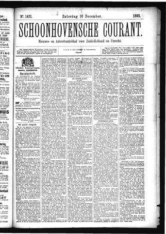 Schoonhovensche Courant 1893-12-16