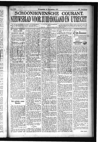 Schoonhovensche Courant 1927-11-16