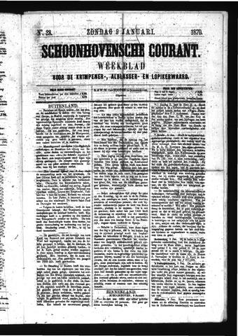 Schoonhovensche Courant 1870-01-09