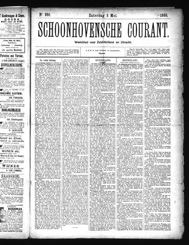 Schoonhovensche Courant 1888-05-05