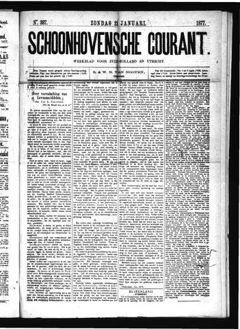 Schoonhovensche Courant 1877-01-21