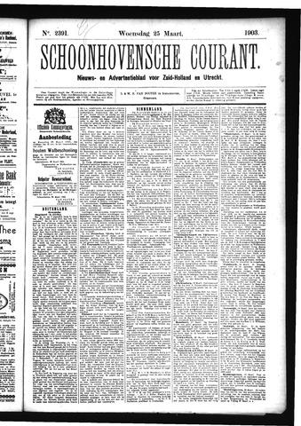 Schoonhovensche Courant 1903-03-25