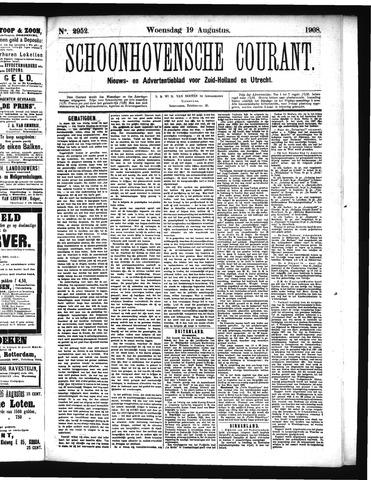 Schoonhovensche Courant 1908-08-19