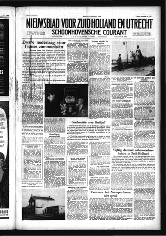 Schoonhovensche Courant 1958-11-24