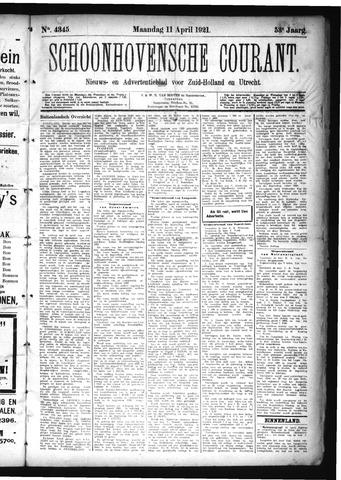 Schoonhovensche Courant 1921-04-11